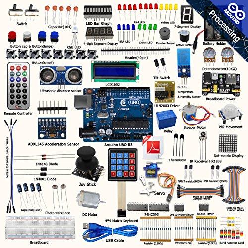 Anfänger-spiel-programmierung (adeept Ultimate Starter Kit für Arduino Uno r3, LCD1602, Servo Motor, Relais, Verarbeitung und C CODE, Anfänger Starter Kit mit 140Seiten, PDF-Führer/Anleitung Buch)