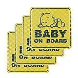 HOMIMP Baby on Board Autocollant de Voiture 4pcs–Fenêtre Universel étanche...