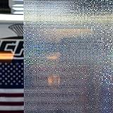 Fensterfolie statisch Selbstklebend UV Sichtschutz 90cm Rollenbreite 8,88€/m² Mosaik Design (1m x90cm Rollenbreite)