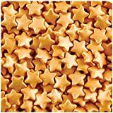 Christmas Gold Stars Edible Sugar Sprinkles 57g