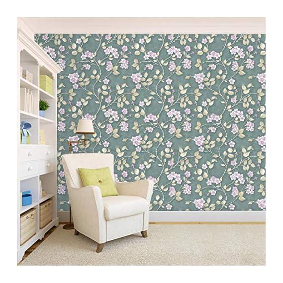 100Yellow? Floral Pattern Self Adhesive Peel & Stick Waterproof Wallpaper-44 Sqft
