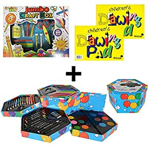 Mega art crafts set childrens jumbo craft box 52 for Amazon arts and crafts for kids