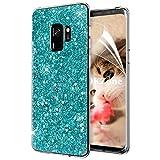 OKZone Galaxy S9 Hülle, Luxus Glitzer Bling [Glänzende Mode][Ultra Dünn] Designer Weich TPU Bumper Case Cover TPU Bumper Schale für Samsung Galaxy S9 (Grün)