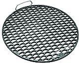 RÖSLE Gussrost RS 50 cm, emailliertes Gusseisen matt, schwarz, 49 x 49 x 8 cm, 5 kg, passend für Ø 50/60 cm