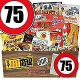 Geschenk Ideen L | Süßigkeiten Set | Zahl 75 | Geschenk Mutti