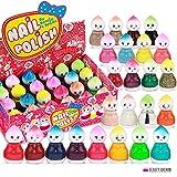 24 Nagellack Set Puppe Form 24 Verschiedenen Farben Cute Doll Perfekte Geschenk (Set A)