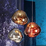 Galvanisierte Lava- Deckenlampe Postmoderne Loft-Kaffee-Bar-Bar Wohnzimmer Esszimmer Kronleuchter Nordisch Kreativ Designer Beleuchtung, Gold, L