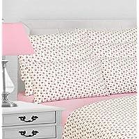 YourHome Flannelette sheet set (Pink, King)