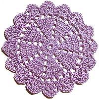 Dessous de verre lilas en cotton au crochet - Dimensions: ø 11 cm - Handmade - ITALY