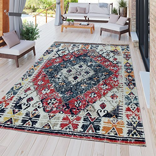 Tt home tappeto moderno da esterni, resistente alle intemperie, adatto ad ambienti interni ed esterni, design nomade,, größe:80x250 cm