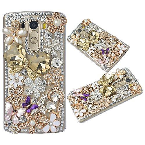 'Spritech (TM) Bling Custodia per LG G4H815h818,3d Handmade design Accessary cristallo trasparente Cellphone Cover