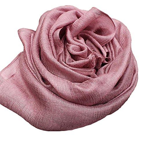 Mme écharpe Châle écharpe De Soie Sauvage Châle Mme Spring Pink3