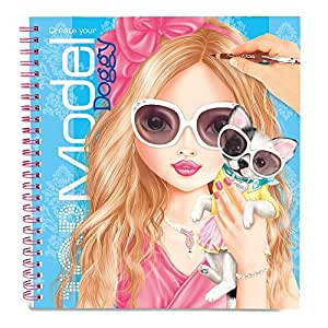 Top model album coloriage styliste create your doggy neuf - Jeux de top mode ...