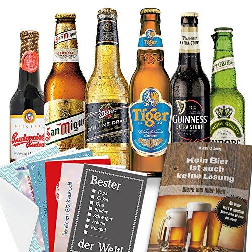 """24x Bier Geschenkbox + Geschenke mit Bieren""""Welt und Deutschland"""" + Bier Geschenk für Männer"""