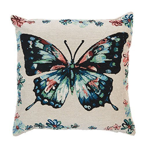 rempli tapisserie papillon rouge vert bleu beige 17 \