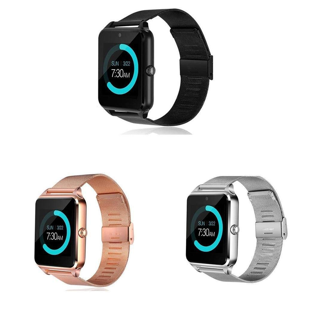 Smart Watch Phone Sleep Monitor Sport Pedometer Camera Touch Screen Bluetooth Watch with SIM Card Slot