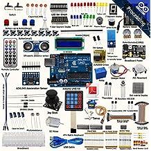adeept Ultimate Starter Kit für Arduino Uno r3, LCD1602, Servo Motor, Relais, Verarbeitung und C CODE, Anfänger Starter Kit mit 140Seiten, PDF-Führer/Anleitung Buch