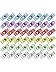 eLander Stoffklammern, Näh Klammern [60 Stück], Stoffklammern Wonder Clips, Perfekt zum Nähen, Quilting Clips, Bastler, Häkeln und Stricken, Handarbeiten
