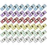 Näh Klammern [60 Stück] von eLander, Stoffklammern Wonder Clips, Perfekt zum Nähen, Quilting Clips, Bastler, Häkeln und Stricken, Handarbeiten