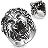 Lion Head Cast Ring 316L Stainless Steel