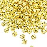 360 Pezzi 1/2 Pollici Jingle Bell Craft Massa Campanelli di Metallo per la Decorazione di Natale DIY (Oro)