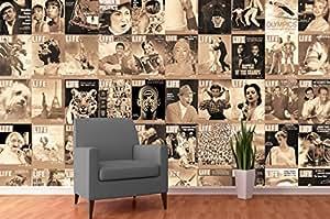 Creative Collage–64pièces Designer papier peint–Life Magazine Sépia (Comprend Pâte)