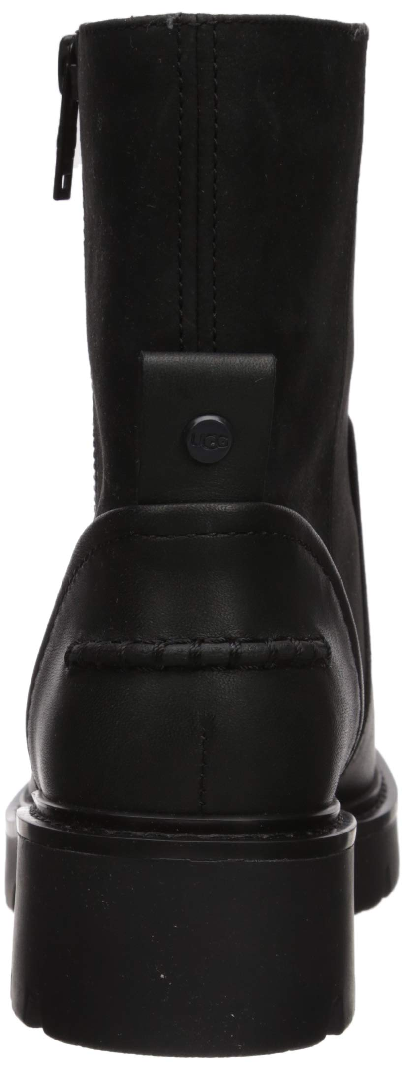 UGG Women's Polk Combat Boot, Black, 5.5 M US 2