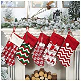 Fenverk Weihnachts-Strumpf Socke HäNgen Weihnachten Dekoration Weihnachtsmann Schneemann/Christmas Stocking/Nikolausstiefel/Weihnachtsstrumpf/Nikolausstrumpf/41x19cm