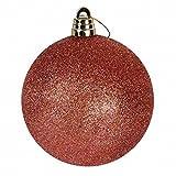 Weihnachtskugel 15cm 4 Stück rot Kunststoff Christbaumschmuck Baumkugel