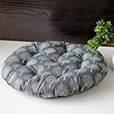 WDZA Baumwolle - Bettwäsche Futon Kissen Studenten Gepolsterter Runde Sitzkissen, 58 X 8 Cm, Farbe - Ein