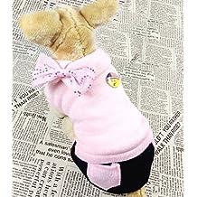 Pet Cat Dog capa de forro polar abrigo de invierno Jumpsuit Chaqueta sudadera con capucha ropa de perros pequeños Tallas XS, S, M, L y XL