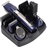Tagliacapelli professionale 5 in 1, kit rifilatore per barba ricaricabile a basso rumore senza fili per naso, orecchie, viso,