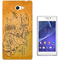 Lord of the Ring map of middle earth Sony Xperia M2 Carcasa de Gel de Silicona Case Cover