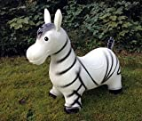 Zebra Hüpftier Hüpfpferd Hüpfesel Hüpfzebra in weiß