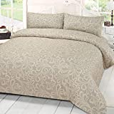 Dreamscene Mayfair Damask Duvet Bedding Set With Pillowcases - Best Reviews Guide