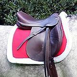 Pferde Weihnachtssatteldecke Satteldecke Schabracke mit Rand aus Fellimitat Full, Auswahl:FULL