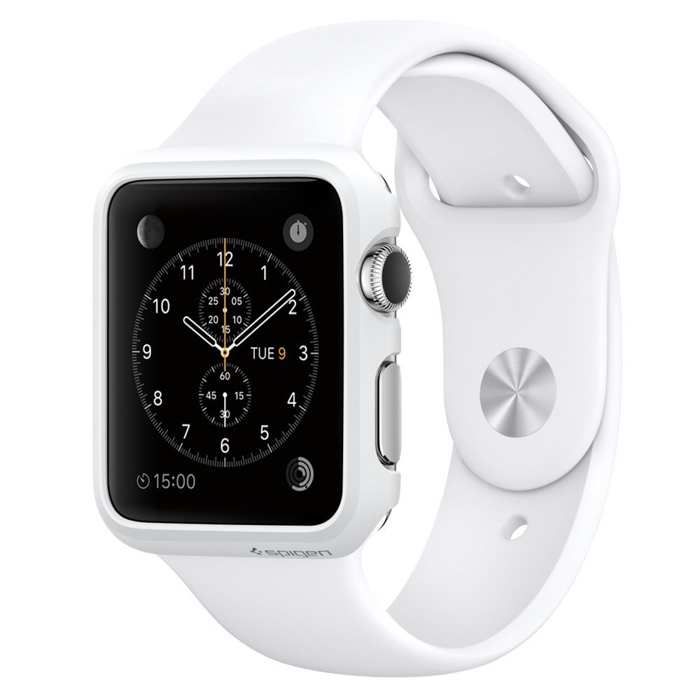 Apple 38 mm silver aluminium watch with white sport amazon co uk electronics