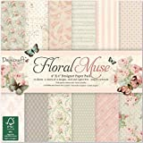 "Dovecraft Floral Muse Collection - Paper Pack 6""x6"" (12 Designs, FSC)"