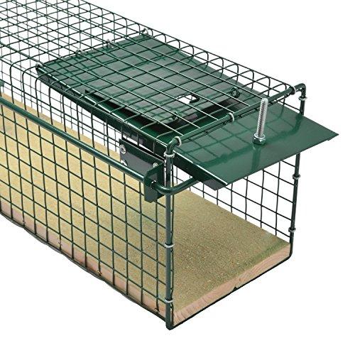 Moorland Safe 6043 XL Lebend-Falle 100cm mit Holzboden als Marder-Falle, Katzen-Falle, Fuchs-Falle, 2 Eingänge & stabil