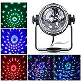 ccbetter Mini palla lampada magica fase Luci da palco cristallo rotante sfera LED RGB effetto per KTV discoteca bar club Ntale DJ Magic Ball cristallo Attivazione vocale