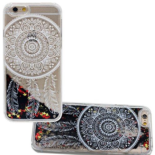 Écoulement Noir Poudre & Étoiles Désign pour iPhone 6 Plus 5.5