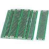 WINGONEER 10PCS (2 x 8cm) Placa de circuito impreso Placa de circuito universal de doble cara para placas de paneles para soldadura de bricolaje