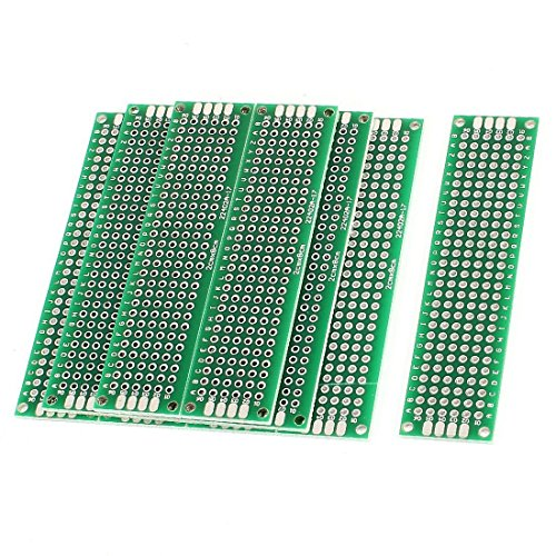 WINGONEER 10PCS (2 x 8cm) Leiterplatten-Board Universal-Doppelseitiges Prototyping-Breadboard-Panel-Leiterplatte für DIY-Löten