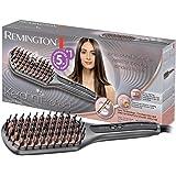 Remington Brosse Lissante Ionique Keratin Protect, Soin Kératine et Huile d'Amande, Lisse, Chauffe, Démêle, Cheveux Brillants et Nourris - CB7480