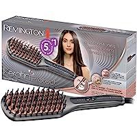 Remington Glättbürste Keratin Protect Ionen 2in1: Glätteisen & Haarbürste für eine reduzierte Stylingzeit (Keratin…