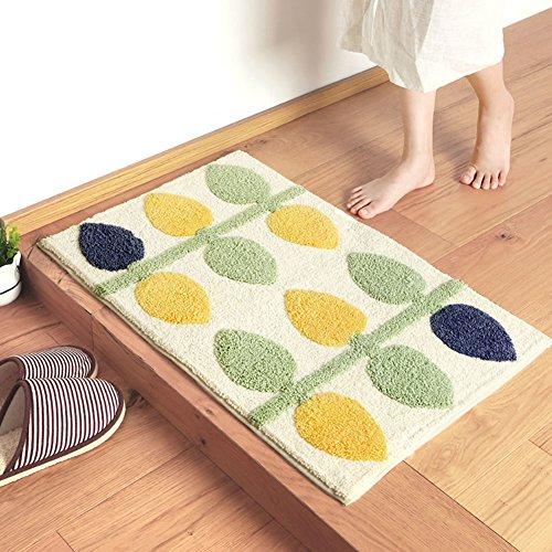 Aik@ slip poliestere zerbini,assorbente durevole tappeto facile da pulire stuoia esterna moderna tappeti tappeto d'ingresso bagno-c 80x120cm(31x47inch)