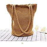 OneMoreT Strandtasche für Damen, handgefertigt, mit Kordelzug, für Damen, lässiges Reisezubehör, Geschenk für Mädchen