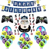 Base Night Theme Package Game Party Decoration Balloon Set Fortnite Game Handle Aluminum Film Balloon Disposable Party Suppli