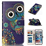 iPhone 6S Case,BONROY® iPhone 6 6S Painting design PU Leather Phone Holster Case, Flip Folio Book Case, Wallet Cover with Stand Function, Card Slots Money Pouch Protective Leather Wallet Case for iPhone 6 6S