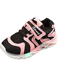 090f79b2d5 Zerototens Unisex Kids Led Light Up Shoes Light Flashing Trainers Sneakers  Children Lightweight Mesh Breathable Sports